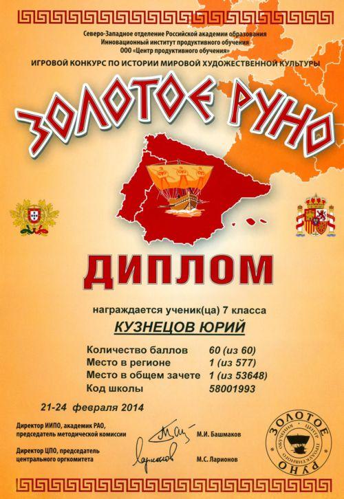 Итоги конкурса году российской истории